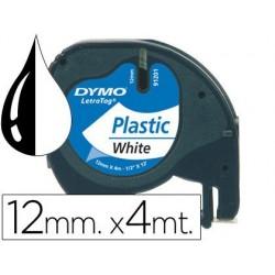 CINTA DYMO LETRATAG PLASTICO 12x4