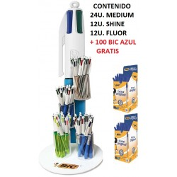 BIC 4 COLORES EXPOSITOR