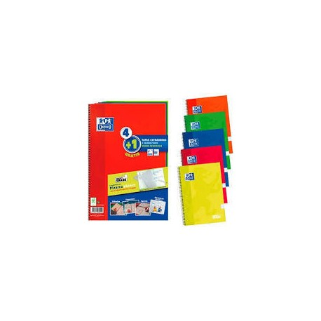CUADERNO OXFORD EXTRA. PACK 4+1 fº